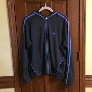Adidas Hoodie 3 Stripe Full ZIP GUC